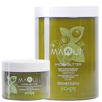 Натуральная питательная маска для сухих волос с маслом ши MAQUI 3 NOURISHING BUTTERY VEGAN MASK ECHOSLINE