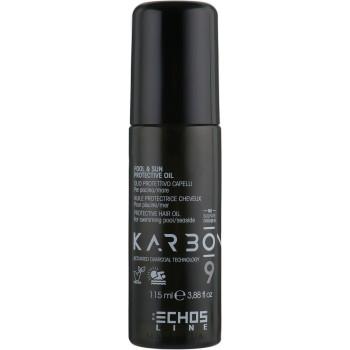 Защитное масло для волос для бассейна-моря-солнца CHARCOAL POOL&SUN PROTECTIVE OIL ECHOSLINE