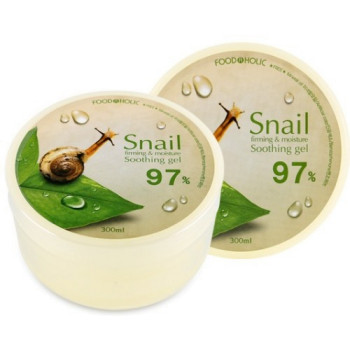 Гель с муцином улитки 97% Snail Firming and Moisture Soothing Gel FOODAHOLIC