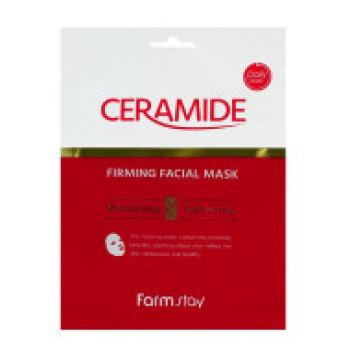 Укрепляющая тканевая маска с керамидами FARMSTAY