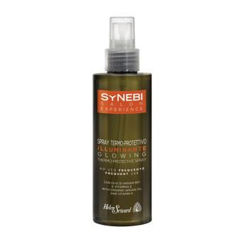 SYNEBI Glowing Thermo-Protective Spray Термозащитный двухфазный спрей для придания блеска с  аргановым маслом и витамином Е HELEN SEWARD