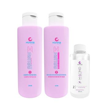 Набор Ботокс для волос H-Brush B. Tox Pink + H-Bond Protector P2 HONMA TOKYO