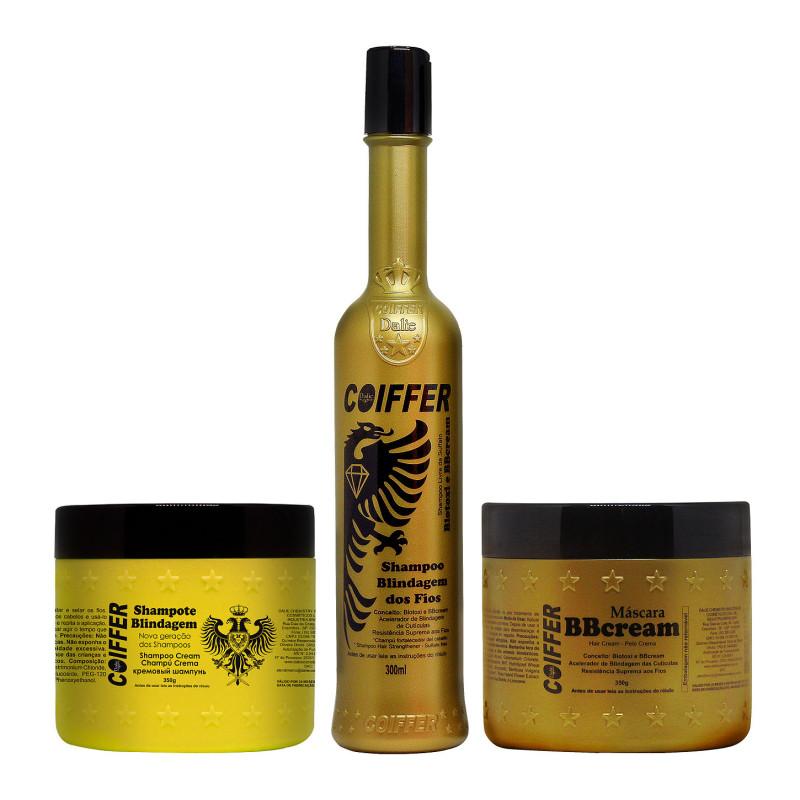 Профессиональный набор для продления эффекта выпрямления и восстановления волос Blindagem COIFFER