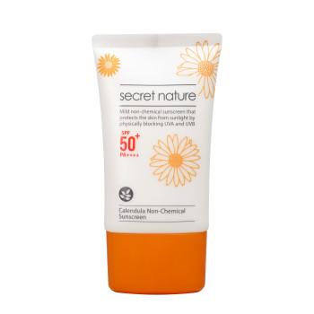 Солнцезащитный нехимический крем с календулой SPF50+ SECRET NATURE