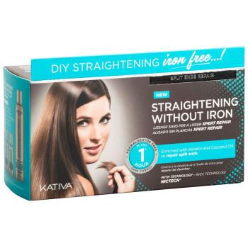 IRON FREE Набор для выпрямления волос Восстановление для волос с секущимися кончиками KATIVA