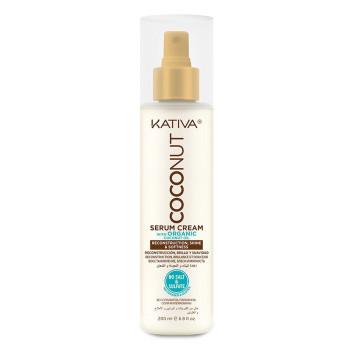 COCONUT Восстанавливающая крем-сыворотка с органическим кокосовым маслом для поврежденных волос KATIVA