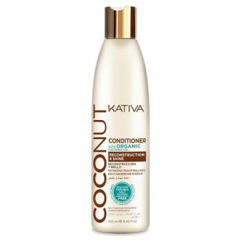 COCONUT Восстанавливающий кондиционер с органическим кокосовым маслом для поврежденных волос KATIVA