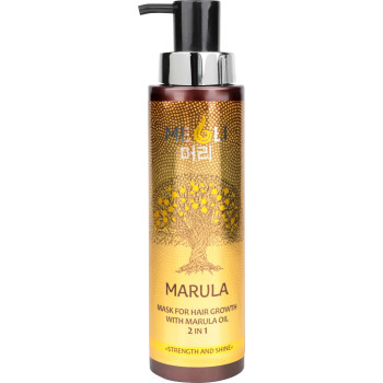 Маска для роста волос с маслом Марулы 2 в 1 Сила и блеск MEOLI