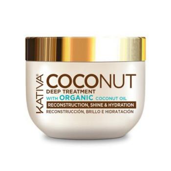 COCONUT Восстанавливающая маска с органическим кокосовым маслом для поврежденных волос KATIVA