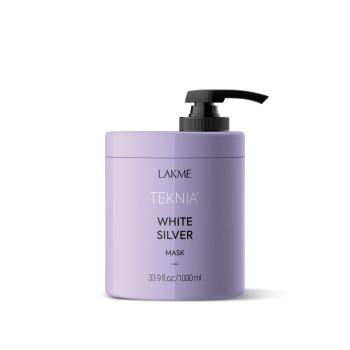 Тонирующая маска для нейтрализации желтого оттенка волос WHITE SILVER MASK LAKME