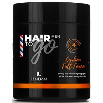 Гель для укладки сильной и гибкой фиксации  Carbon Full Force Hair To Go Men LENDAN
