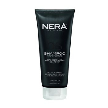 Уплотняющий  шампунь для ослабленных и тусклых волос с экстрактами листьев эвкалипта и лопуха NERA