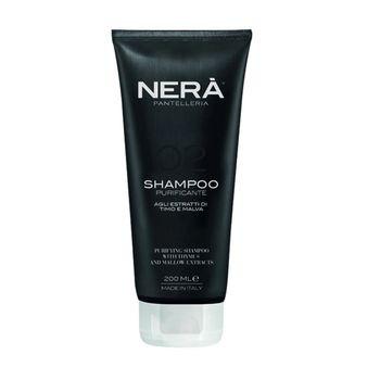 Очищающий шампунь для жирной кожи головы с экстрактами тимуса и мальвы NERA