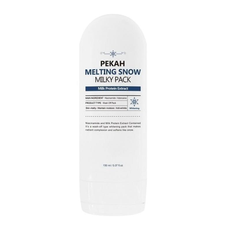 Молочная осветляющая маска для лица Melting Snow PEKAH