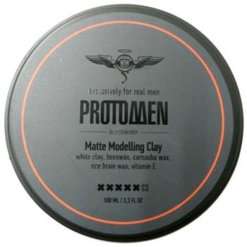 Глина моделирующая матовая сильной фиксации Matte Modelling Clay PROTOKERATIN