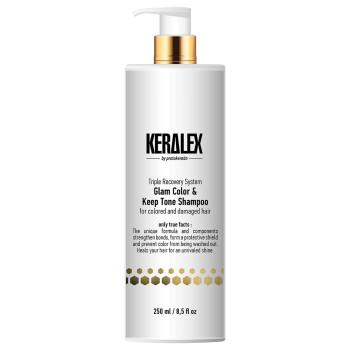Шампунь ДУО-сияние и защита цвета Keralex Glam Color & Keep Tone Shampoo PROTOKERATIN