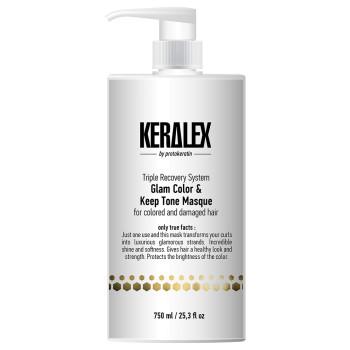 Маска ДУО-сияние и защита цвета Keralex Glam Color & Keep Tone Masque PROTOKERATIN