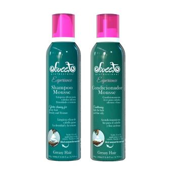 Набор шампунь и кондиционер мусс для объема GREASY HAIR Sweet Hair Professional